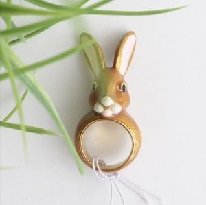 NWT KATE SPADE DESERT MUSE BUNNY RING